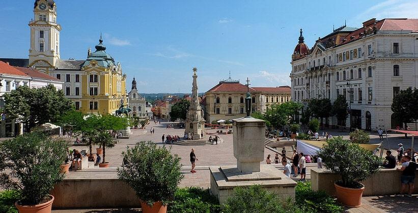 Город Печ в Венгрии