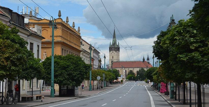 Город Прешов в Словакии