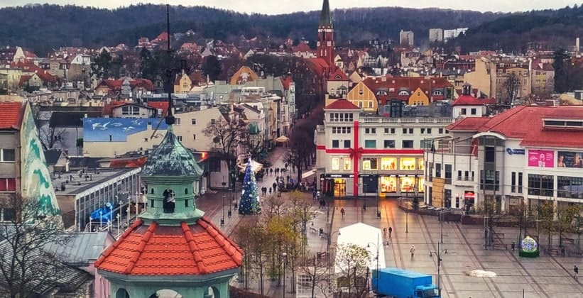 Город Сопот в Польше