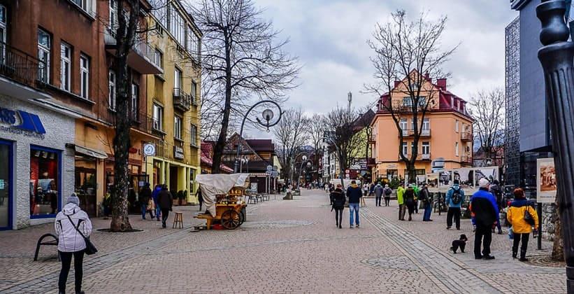 Город Закопане в Польше