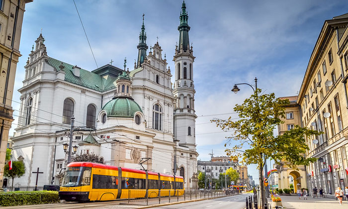 Городской трамвай Варшавы