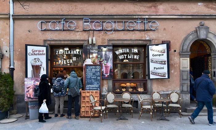 Кафе Baguette в Варшаве