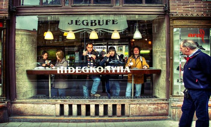 Десертное кафе Jegbufe в Будапеште