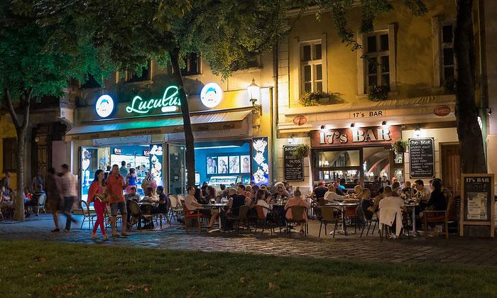 Кафе-мороженое Luculus и бар 17's в Братиславе