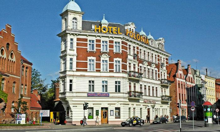 Отель Polonia в городе Торунь