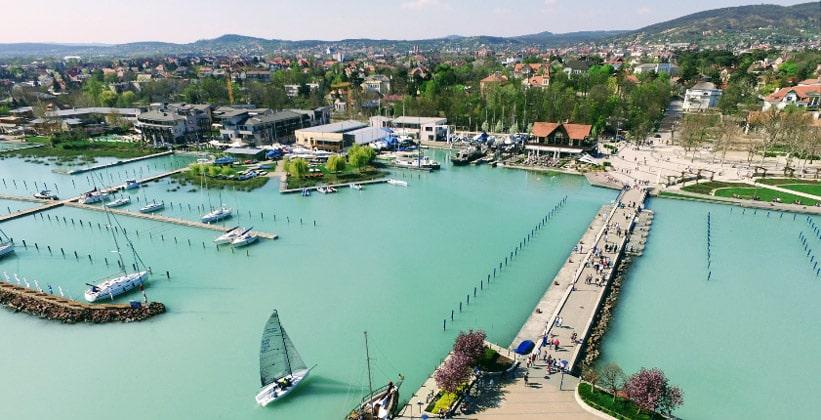 Порт города Балатонфюред