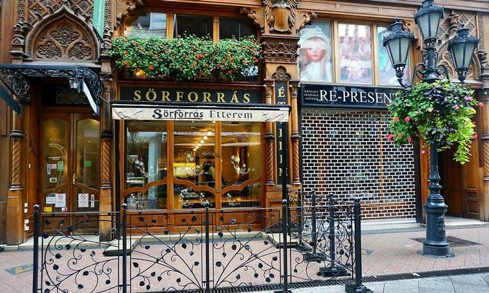 Ресторан Sorforras в Будапеште