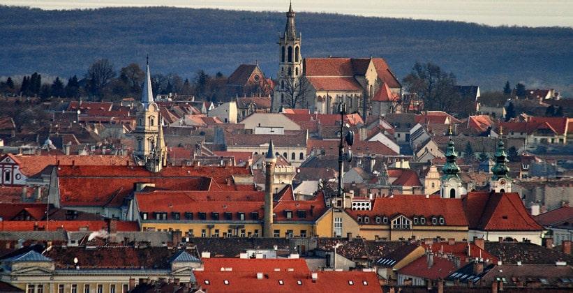 Город Шопрон в Венгрии
