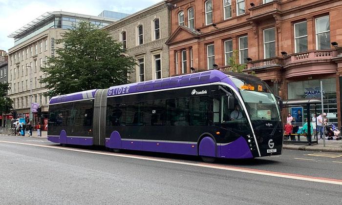 Сочленённый автобус Белфаста