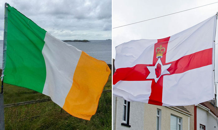 Флаги Республики и Северной Ирландии