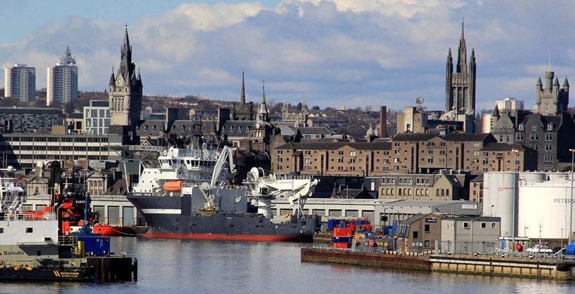 Город Абердин в Шотландии