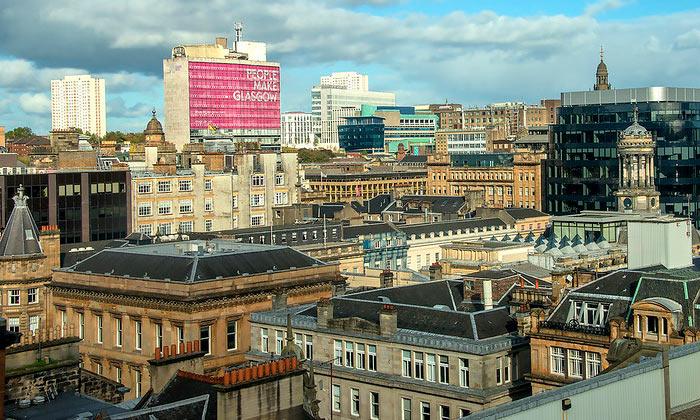 Город Глазго в Шотландии
