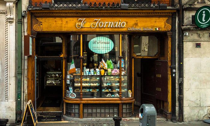 Кафе Li Fornaio в Дублине