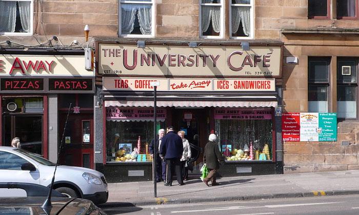 Кафе «University» в Глазго