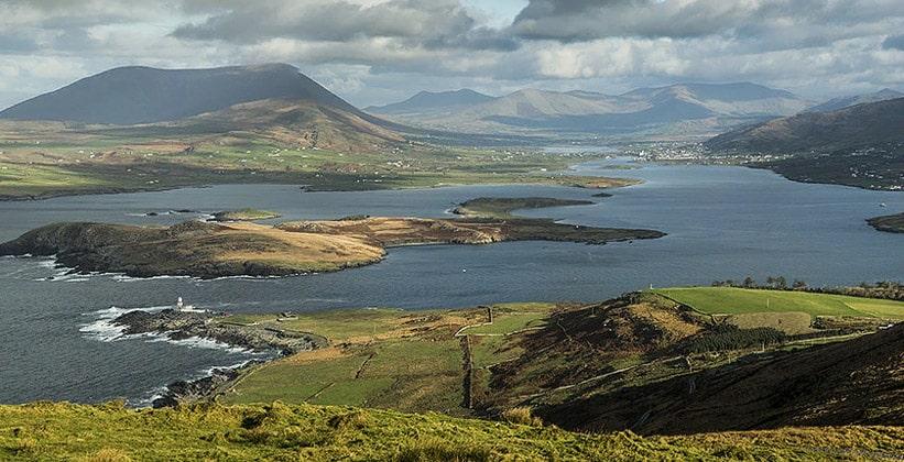 Панорама Кольца Керри в Ирландии