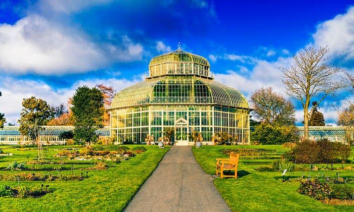 Оранжерея Национального ботанического сада Ирландии в Дублине