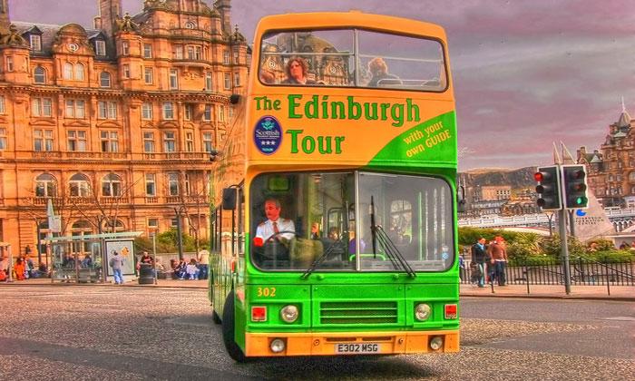 Туристический автобус Эдинбурга