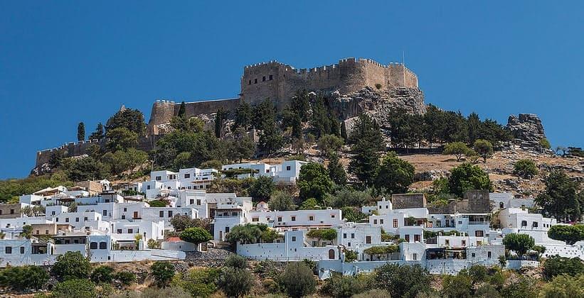 Город Линдос на острове Родос