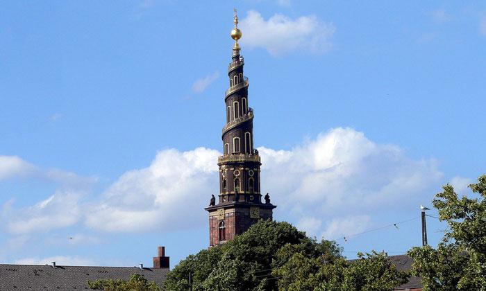 Башня церкви Спасителя в Копенгагене