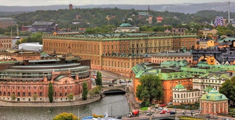 Панорама Королевского дворца в Стокгольме