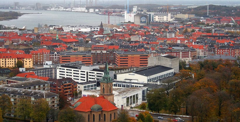 Город Ольборг в Дании