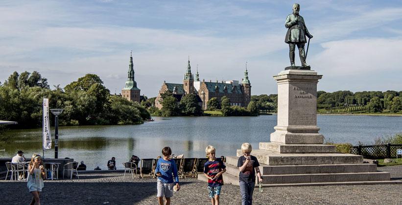 Город Хиллерёд в Дании
