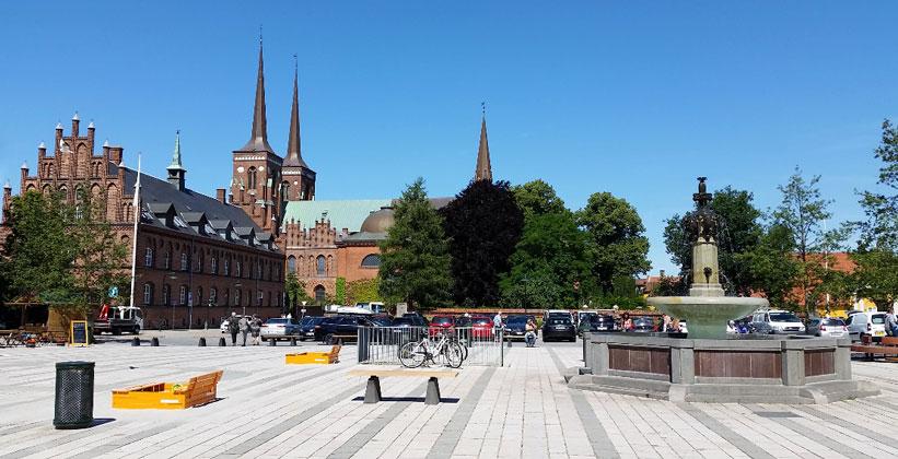 Город Роскилле в Дании