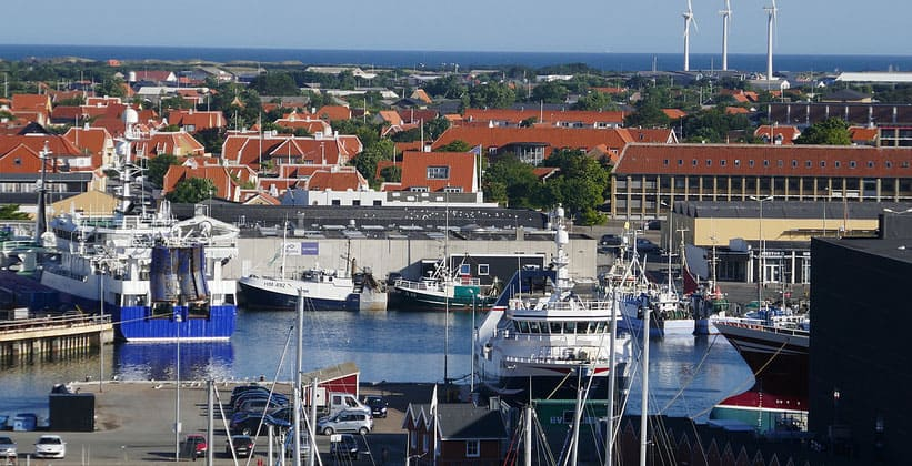 Город Скаген в Дании