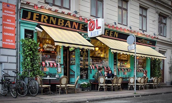 Кафе Jernbane в Копенгагене