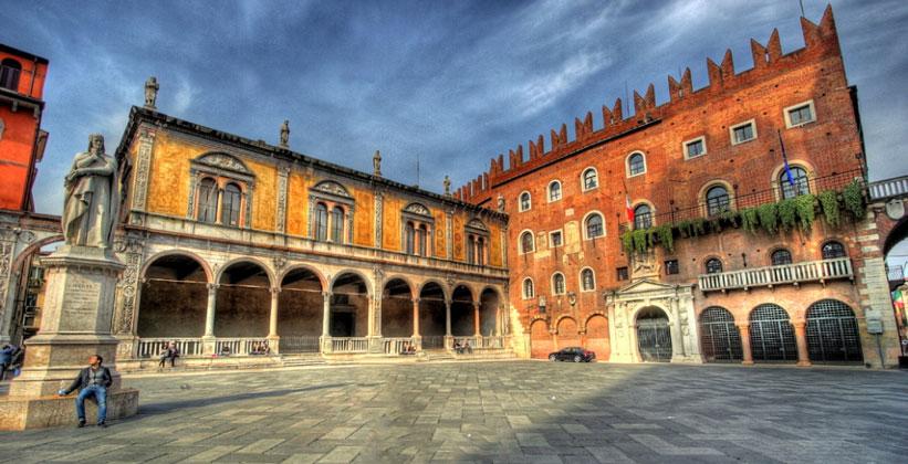 Площадь Синьории в Вероне