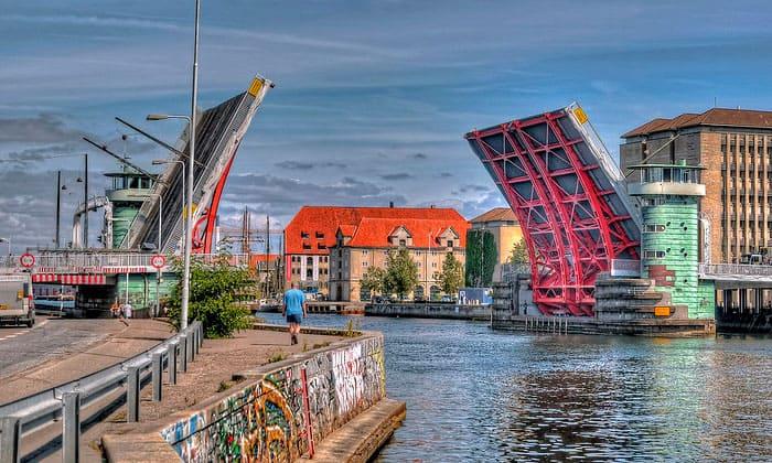 Разводной мост Knippelsbro в Копенгагене