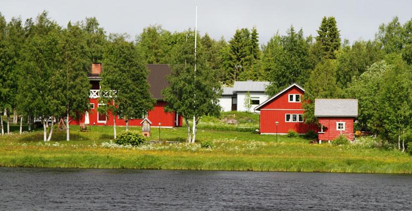 Деревня Инари в Финляндии