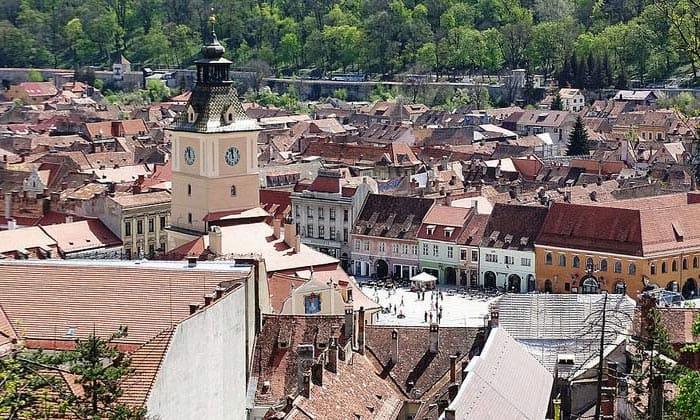 Город Брашов в Румынии