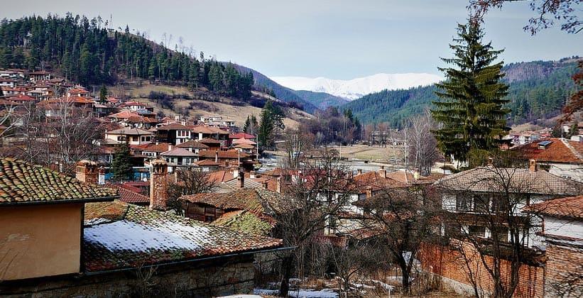 Город Копривштица в Болгарии