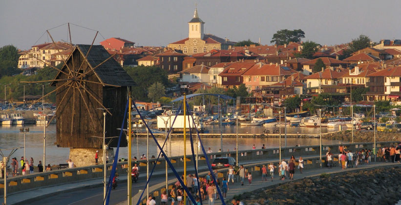 Город Несебыр в Болгарии