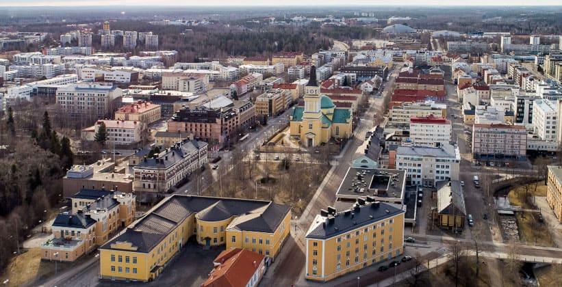 Город Оулу в Финляндии