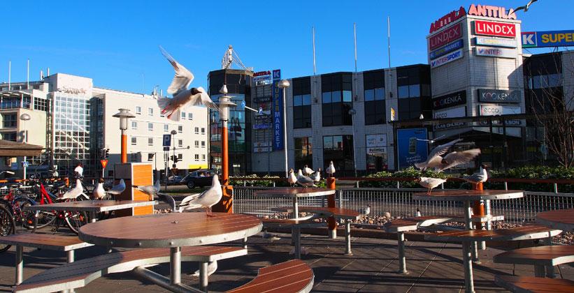 Город Рованиеми в Финляндии