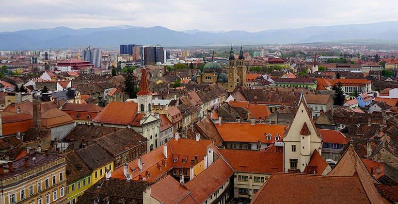 Город Сибиу в Румынии
