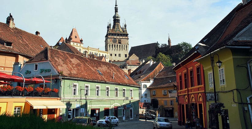 Город Сигишоара в Румынии