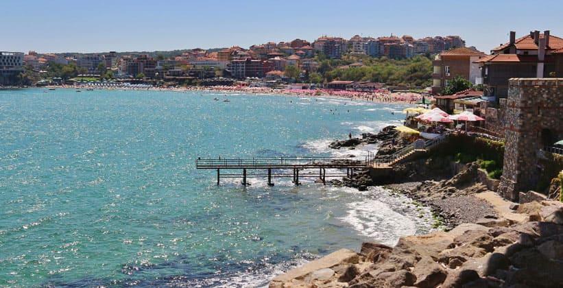 Курортный город Созопол в Болгарии