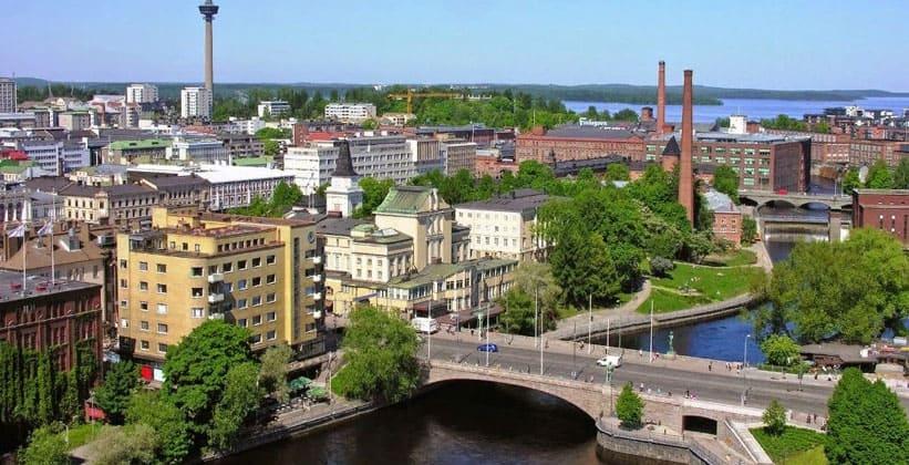 Город Тампере в Финляндии