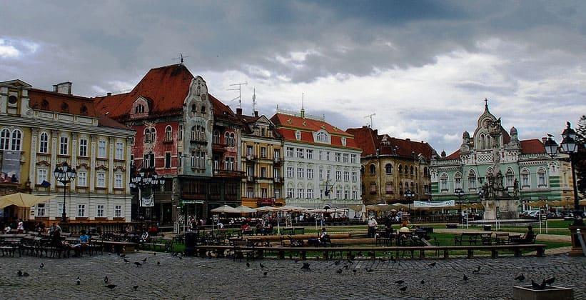 Город Тимишоара в Румынии