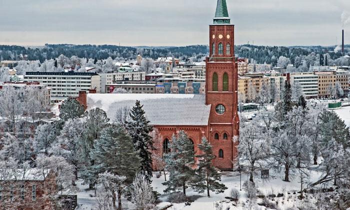 Город Савонлинна в Финляндии