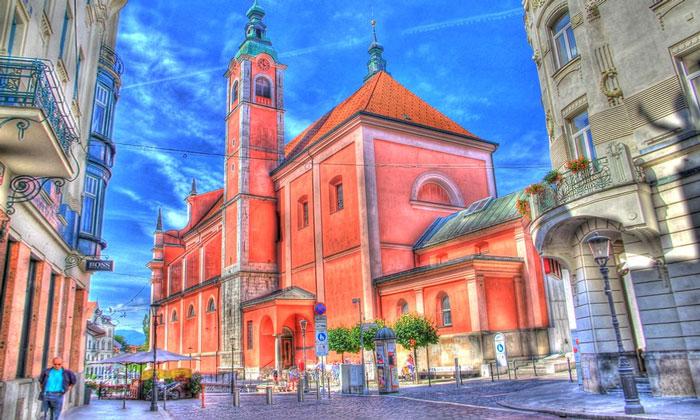 Францисканская церковь Благовещения в Любляне