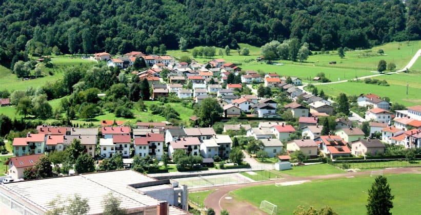 Город Кобарид в Словении