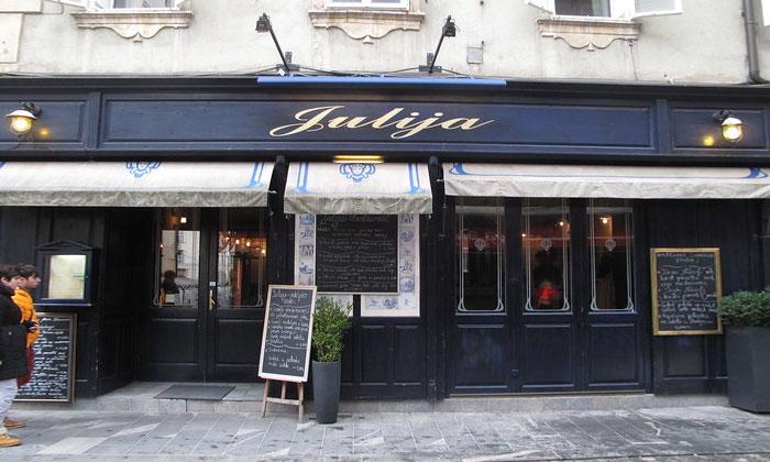 Ресторан Julija в Любляне
