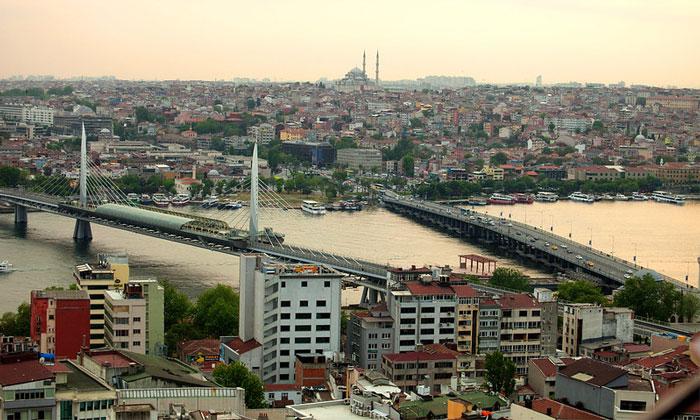 Мосты Золотой Рог и Ататюрка в Стамбуле