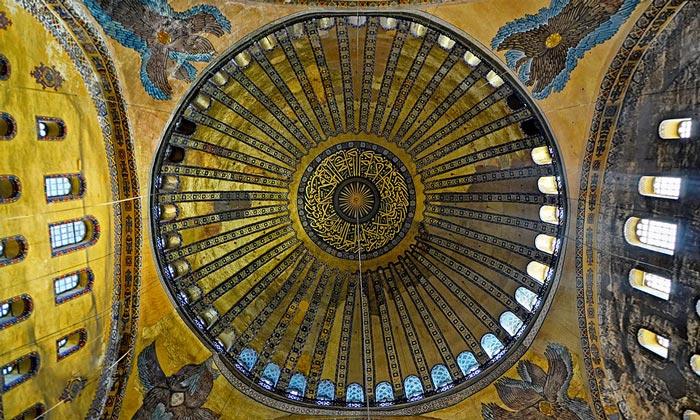 Оформление купола Айя-Софии