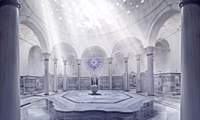 Внутри хаммама Кагалоглу в Стамбуле