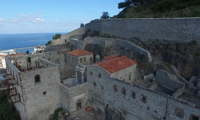 Руины монастыря Феоскепастос в Трабзоне